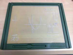 道路地図、机・イスの配置、グラフなどを書いたサンプル用紙